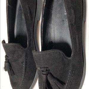 Forever 21 womens black tassel loafers size 7